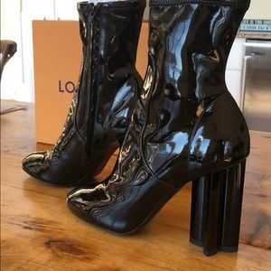 Louis Vuitton Silhouette Patent Bootie
